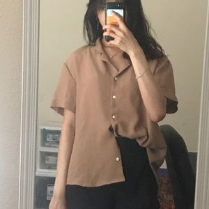 Tops - Camel Button Down